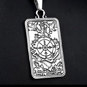 Tarot Wheel of Fortune Pendant necklace